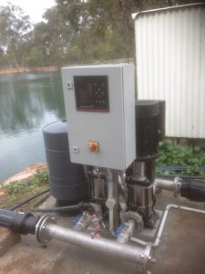 Grundfos Vertical Multistage Pumpset for Irrigation Project