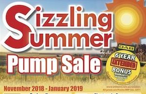White pump Sale Brochure